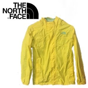 The North Face HyVent Yellow Hooded Jacket 14/16